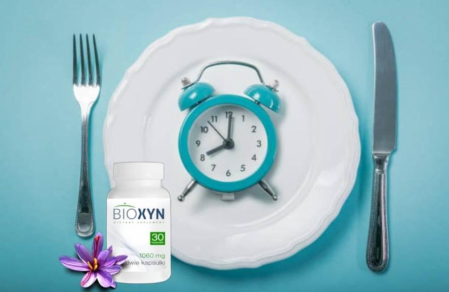 Bioxyn, Diätplan, Teller, Uhr