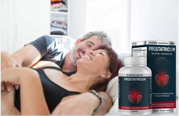 glückliches Paar im Bett, Prostatricum