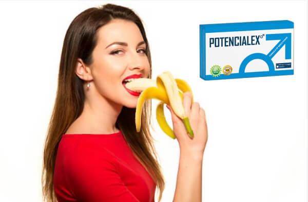 potencialex, Frau mit Banane