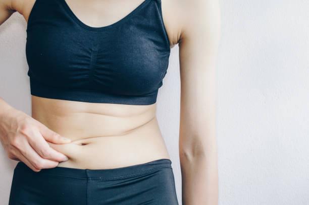 Fettverbrennung Lebensmittel, Frau, Magen